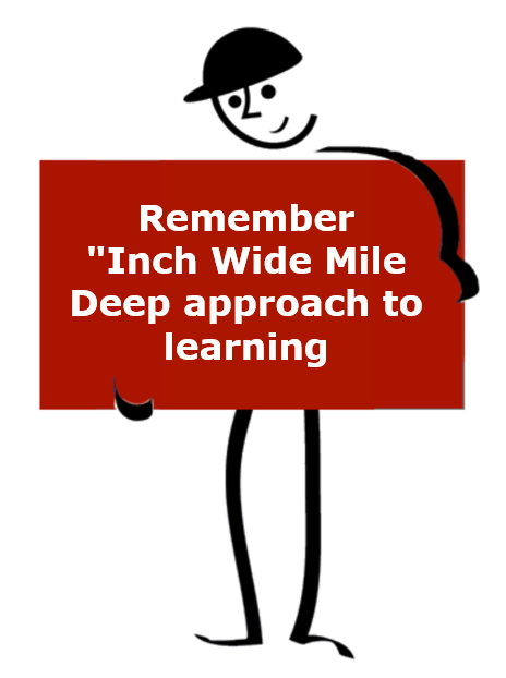 Inch wide mile deep approach to learning 8 Step Practical Problem Solving