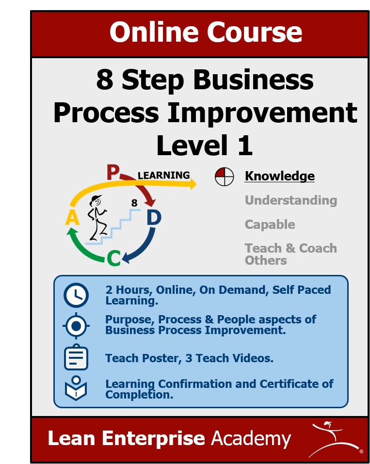 8 Step Business Process Improvement course cover