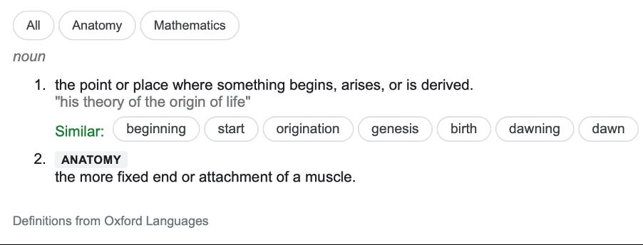 origin-definition